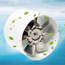 "4"" Inch Inline Duct Fan Booster Exhaust Blower 220V Air Cooling Vent Metal Blade"