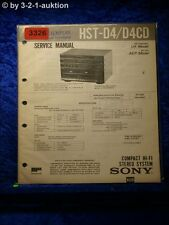 Sony Service Manual HST D4 / D4CD Component System  (#3326)