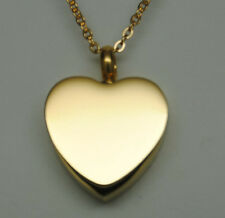 Gold Heart Urn Necklace Gold Cremation Jewelry Keepsake Memorial Urn Pendant