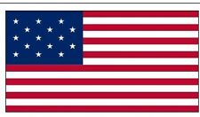 STAR SPANGLED BANNER FLAG 15 STARS 15 STRIPES WAR OF 1812 3X5 FT POLYESTER FLAG