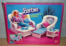 Barbie Rattan Möbel De Luxe Set + OVP 80er 90er Jahre Vintage Couch Sofa Tisch