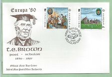 Isle of Man IOM First Day Cover FDC 1980 Europa T E TE Brown Poet Scholar