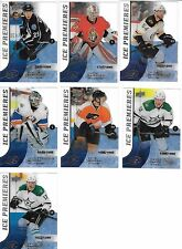 Lot (7) 15-16 UD Ice Premieres Rookie Cards /1999 1499 Shore Faksa Berube