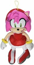 "GE Animation GE-52635 Sonic the Hedgehog 9"" Amy Rose in Red Dress Stuffed Plush"