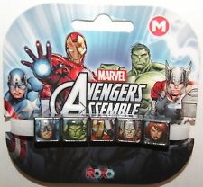 Disney Marvel Avengers Med Interchangeable 5 Charm Bracelet Captain America NEW