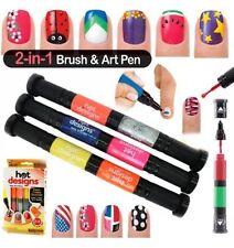 Hot Designs Nail Polish Varnish Art Pen and Brush Drawing Tool Gel Nail Art Pen