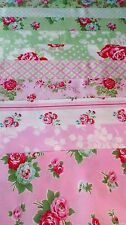 10 Fat Quarters DELILAH green&pink by Tanya Whelan for FreeSpirit-2.5 yards OOP