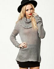 Jaqueline De Yong Mandy Roll Neck Jumper Grey Size Large Box3138 G