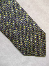 PURE SILK PATTERNED TIE ST MICHAEL NAVY GOLDEN CREAMS IN STUNNING CONDITION