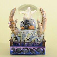 Jim Shore Halloween Witch Hands Musical Waterball ~ Halloween Is At Hand 4034435
