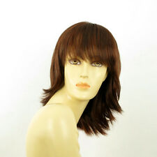 mid length wig for women dark brown copper intense ref: VANILLE 322  PERUK
