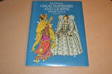 Great Empresses & Queens Tom Tierney Paper Doll and Clothes Book NEW Uncut MINT