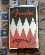 MUSIC FENDER REFLECTION ZIPPO LIGHTER FREE P&P FREE FLINTS