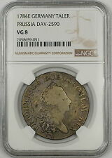 1784E Prussia Germany Silver Taler Coin DAV-2590 NGC VG-8