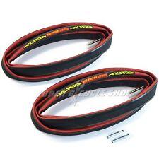 """TUFO S33 PRO 24 Tubular Neumáticos,28""""x24mm 700Cx24 Válvulas Extensor,Rojo, 2pcs"""