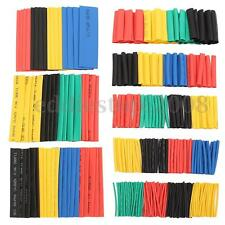 328Pcs Polyolefin Assorted 2:1 Heat Shrink Tubing Sleeving Wrap Wire Cable 8Size