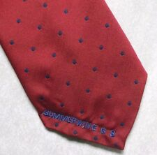 SUMMERWINE GS TIE VINTAGE RETRO GOLF CLUB ASSOCIATION SOCIETY 1990s RED BLUE
