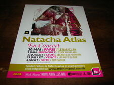NATACHA ATLAS - PUBLICITE DATES CONCERT !!!!!!!!!!!!!