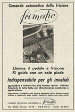 W5284 FRIMATIC elimina il pedale a frizione - Pubblicità 1967 - Publicitè