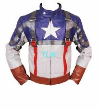 Movie Avengers Assembled Captain America Leather Jacket Chris Evans All Sizes