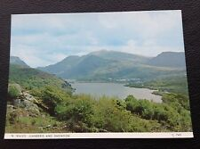 POSTCARD: (C740): N. WALES: LLANBERIS AND SNOWDON: UN POSTED