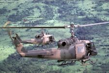 "U.S. Air Force Bell UH-1P Helicopters 13""x 19"" Vietnam War Photo Poster 77"