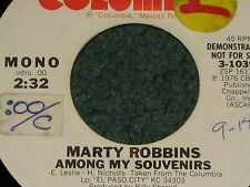 marty robbins 2 promo record lot deal i don't know why & among my souvenirs
