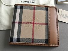 Burberry Men's Wallet Horseferry Check / Tan NWT!
