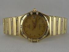 Omega Constellation Quarz 750 Gold/Goldarmband mit Omega  Pap. Kasten
