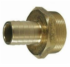 Brass Male Hose Connector DZR - 32mm Thread to 25mm Hose