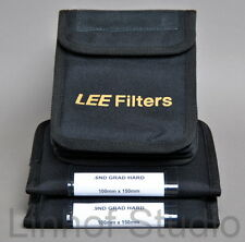 Lee Filters 100x150mm conjunto de dos.9 duro,.6 Duro Nd Grad Filtros, Triple Pouch
