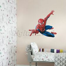 Spiderman 3D Home Decal Removable Boys Room Sticker PVC Decal Mural Decor Art