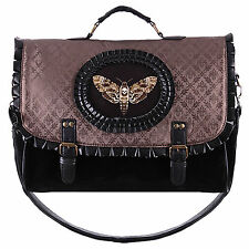 The Butterfly Collector Handbag in Copper Brown. Gothic Steampunk Satchel Bag