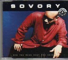 (AJ927) Sovory, Did U mean What You Said - DJ CD