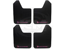 (Set of 4) Rally Armor Universal Basic Mud Flaps Guards w/ Pink Logo