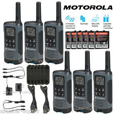 Motorola Talkabout T200TP Walkie Talkie 6 Pack Set 20 Mile Two Way Radio Package