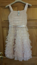 BNWT Signature from NEXT pink sequinned girls party dress Age 12 Ruffles tulle