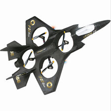 RC Remote Control F-22 Fighter Jet Quad-Copter! Drone F22 Plane!