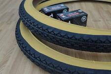 Two (2) Beach Cruiser 24x2.125 Bicycle Tires & Inner tubes Diamond Gum Wall BMX