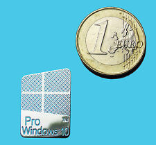 WINDOWS 10 PRO METALISSED CHROME EFFECT STICKER LOGO AUFKLEBER 16x23mm [429]