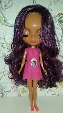 Plum haired Factory Blythe doll with Sleepy eyes, dressed with teddy. UK seller