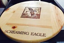 Screaming Eagle Lazy Susan Wine Panel Handcraft Rare Large 20 1/2""