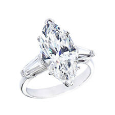 18K G/H SI 2.20ct Marquise Cut Diamond Engagement Ring Certified