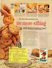 1961 Vintage ad for Robin Hood Flour~Confetti Cookies recipe (101113)