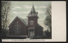 Postcard NORTH BALTIMORE Ohio/OH  St Luke's Lutheran Church view 1907?