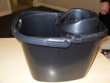 TML MOP BUCKET STRONG HANDLE AND WRINGER - 15 litre - PLASTIC - GRAPHITE