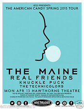 "THE MAINE/REAL FRIENDS ""AMERICAN CANDY SPRING 2015 TOUR"" PORTLAND CONCERT POSTER"