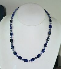 Carolina Sundance DARK BLUE SODALITE IOLITE NECKLACE STERLING SILVER