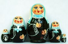 "Nuns Nesting Stacking Dolls 4"" Fast Shipping"