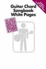 Guitar Chord Songbook White Pages (2012, Paperback)